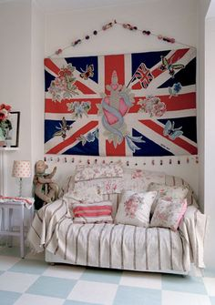 """""""Jubilee"""" by Lucinda Chambers for The Rug Company Wallhanging Collection - Incredible, right down to the beads & pom poms!"""