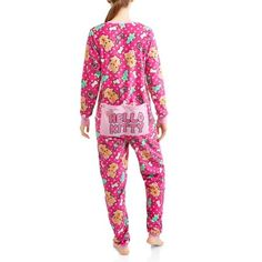 c70a989a3c Hello Kitty - Hello Kitty Adult Onesie With Dropseat - Walmart.com