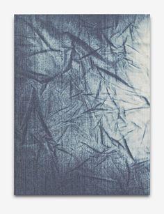 "Anja Schwörer [Germany] (b 1971) ~ ""BP_1414"", 2014. Bleach on cotton (94 x 70 cm). | #art #painting #abstract #expressionism"