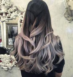 Love this color! #Repost @hairloungenyc ・・・ Color + Cut by Mavis #Wellalife #silverhair #bestofhair #bluehair #purplehair #highlights #behindthechair #welleducation#fashion #mastercolorexpert #nyc #hair #grannyhair #紐約#perfection#loves#haircolor#balayage #ombre #life #hairdesign#nycsalon#fashion#hairstyle#hairdye#highlights#metallichair