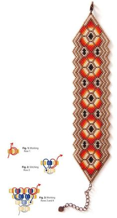 Diy Bracelets Patterns, Beaded Earrings Patterns, Beaded Jewelry Designs, Seed Bead Patterns, Jewelry Patterns, Peyote Patterns, Beading Patterns, Beading Techniques, Seed Beads