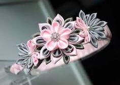 Znalezione obrazy dla zapytania kwiat kanzashi krok po kroku