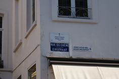 Bilingual street name signs, Brussels, Belgium