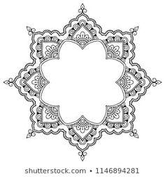 Circular pattern in form of mandala for Henna, Mehndi, tattoo, decoration. Decor… Circular pattern in form of mandala for Henna,. Mehndi Tattoo, Diy Tattoo, Henna Mehndi, Mandala Drawing, Mandala Tattoo, Zentangle, Tattoo Minimaliste, Page Frames, Style Oriental