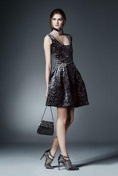 Alberta Ferretti Pre-Fall 2015 Fashion Show Velvet Dress