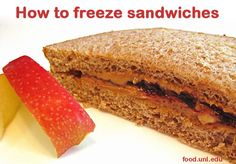 How to freeze peanut butter and jelly, meat, cheese, tuna and salmon sandwiches - great to make ahead for school lunches and road trips!