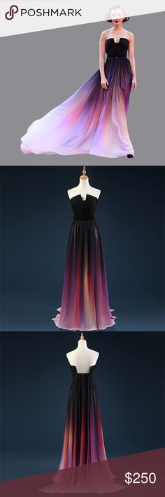 Custom prom dress size 14 Custom prom dress size 14 long ombré prom Dresses Prom