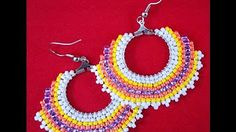 Hoop Earrings with bugles, delicas and seed beads - Tutorial - YouTube