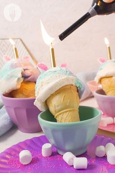 3-ingredient cupcakes just got the ULTIMATE colourful twist ✨🦄🍦 Cupcake Cones, Unicorn Cupcakes, Girly Girls, 3 Ingredients, Birthday Cakes, Food Videos, Cravings, Sweet Tooth, Easy Meals