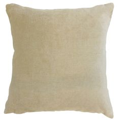Daire Solid 18 inch Down and Feather Filled Throw Pillow