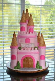 Pink Castle Cake omg momma we should make this for Amber's birthday next year probably one of the last years she would allow princess lol! Birthday Cakes, Girl Birthday, Birthday Ideas, Birthday Parties, Pink Castle, Princess Castle, Cupcake Cookies, Cupcakes, Castle Cakes
