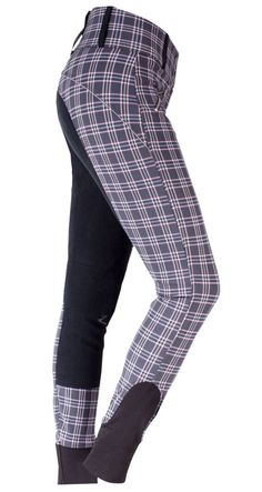 Horze Xara Full Seat Breech in Rose Plaid [dead link]