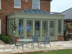 change conservatory roof to orangery Conservatory Roof, Folding Doors, Garden Structures, French Doors, Exterior Design, Hardwood, Outdoor Decor, House, Home Decor