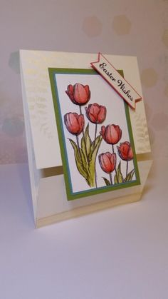 Easter Tulips by CanAm - Cards and Paper Crafts at Splitcoaststampers