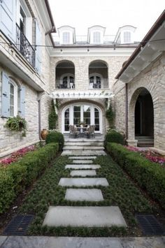 traditional enclosed french english style patio by Natchez Stone Company, LLC.