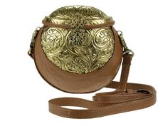 Gorgeous leather & brass purse!