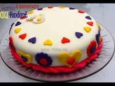 Recette de Gateau d'anniversaire au Fondant/My birthday cake with fondan...