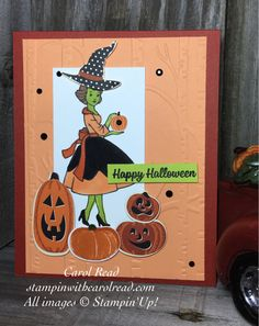 Halloween Witch Card-Stampin' Up!