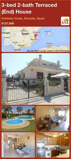 3-bed 2-bath Terraced (End) House in Orihuela Costa, Alicante, Spain ►€127,000 #PropertyForSaleInSpain