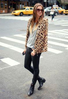 Leopard, grey, black