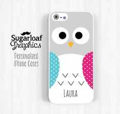 iPhone Case  Cute Owl Personalized First Name by SugarloafGraphics, $15.95