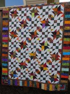 Texas Tumbleweeds  by Bonnie Hunter, by Nettie's Quilts, via Flickr