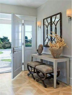 Modern and tranquil entry way
