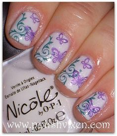 NICOLE BY OPI IT'S ALL ABOUT THE GLAM + STAMPING