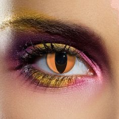 Create hypnotic snake eyes with these  Nagini Snake Contact Lenses .