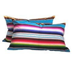 Fantastic Striped Mexican Indian Serape Weaving Bolster Pillows