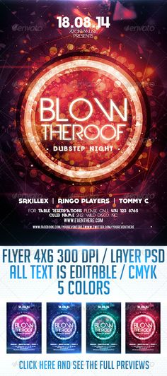 Blow the Roof Flyer Template PSD | Buy and Download: http://graphicriver.net/item/blow-the-roof-flyer-template/8719182?WT.ac=category_thumb&WT.z_author=Lakose&ref=ksioks