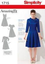 Simplicity Schnitt Passform-Kleid 1715
