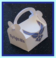 Air Force party favor boxes Air Force promotion by tinygiftboxes