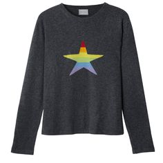 Stars & Stripes Rainbow Cashmere Sweater | Orwell + Austen Cashmere | Wolf & Badger