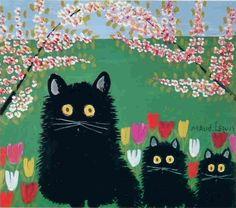 Understanding Maud Lewis, the Often Overlooked Canadian Folk Artist - Artsy Maudie Lewis, Black Cat Appreciation Day, Black Cat Art, Black Cats, Canadian Artists, Nova Scotia, All Art, Female Art, Decoration