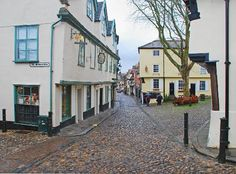 Elm Hill, Norwich. Cobbled streets