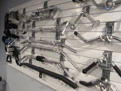 Wall Storage Idea For Your Cable Attachment Bars