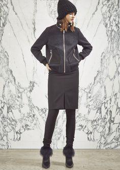 3-way Blouson x Tight Skirt
