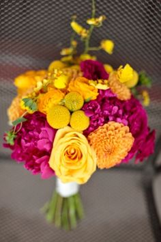 Peonies, Roses, Billy Balls, Dahlias, Spray Roses, Oncidium Orchids