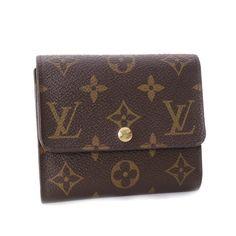 Louis Vuitton Anais Monogram Wallets Brown Canvas M60402