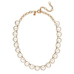 "J.Crew Crystal Venus Flytrap Necklace (17"" Length. Gold)"