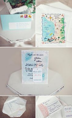 Our Mexico wedding invitations :  wedding destination wedding fabric inspiration invitations mexico orange teal Invite