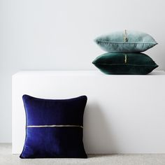Part of the Reverie collection, Elwyn is plush, soft and luxurious. Featuring exposed brass zip detail, this velvet cushion will add instant luxe to any space.