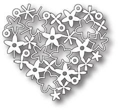 Memory Box Floral Heart Die