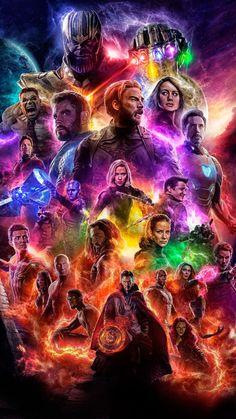 Avengers Film End Game Hot Marvel Poster Art Home Room Wall Printing Decor Captain Marvel, Marvel Avengers, Marvel Comics, Hero Marvel, Marvel Films, Thanos Marvel, Marvel News, Captain America, Thanos Hulk