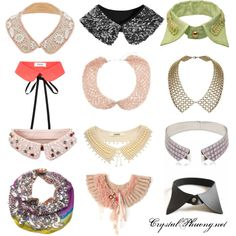 DIY Collars inspiration #fashion #accessories #collars #necklace #diy