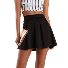 Pleated Skater Skirt: Charlotte Russe