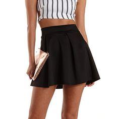 Pleated Skater Skirt: Charlotte Russe