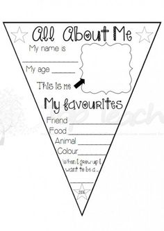 """This """"All About Me!"""" bunting can be used at the beginning of the year as  a 'get to know me' activity or later in the year as a 'student of the  week' activity.  Connect each student's tog"""