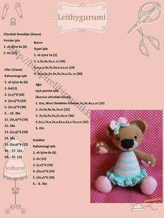 Teddybears Crochet Pig, Crochet Teddy, Crochet Doll Pattern, Crochet Patterns Amigurumi, Crochet Dolls, Amigurumi Tutorial, Toy Craft, Handmade Toys, Doll Patterns